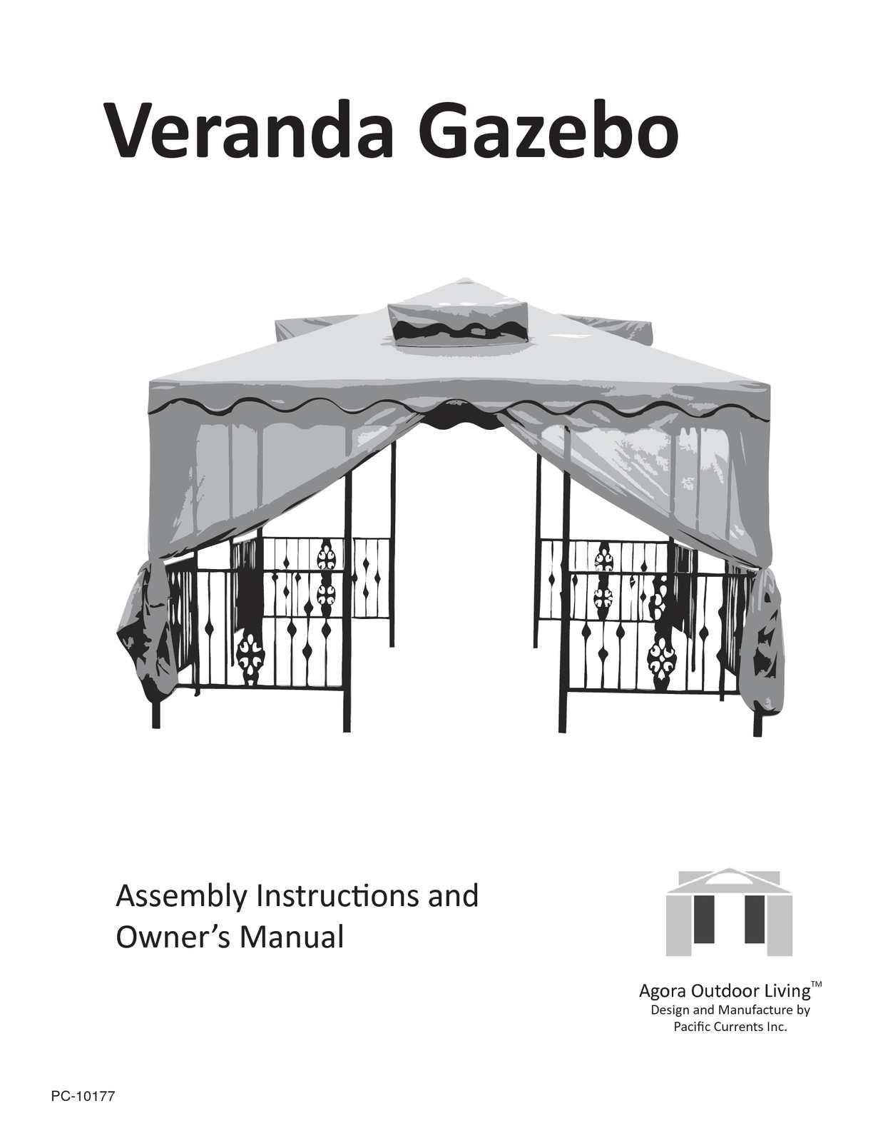 Calamo Veranda Gazebo Assembly Manual