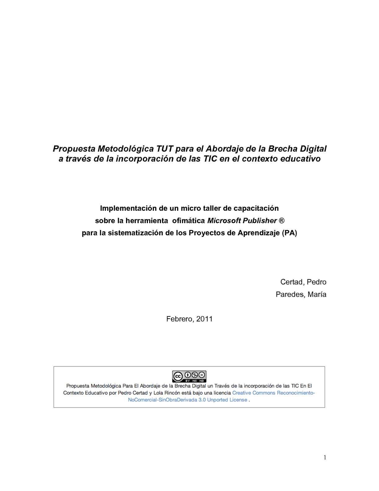 Calaméo - Propuesta Metodológica para el Abordaje de la Brecha Digital