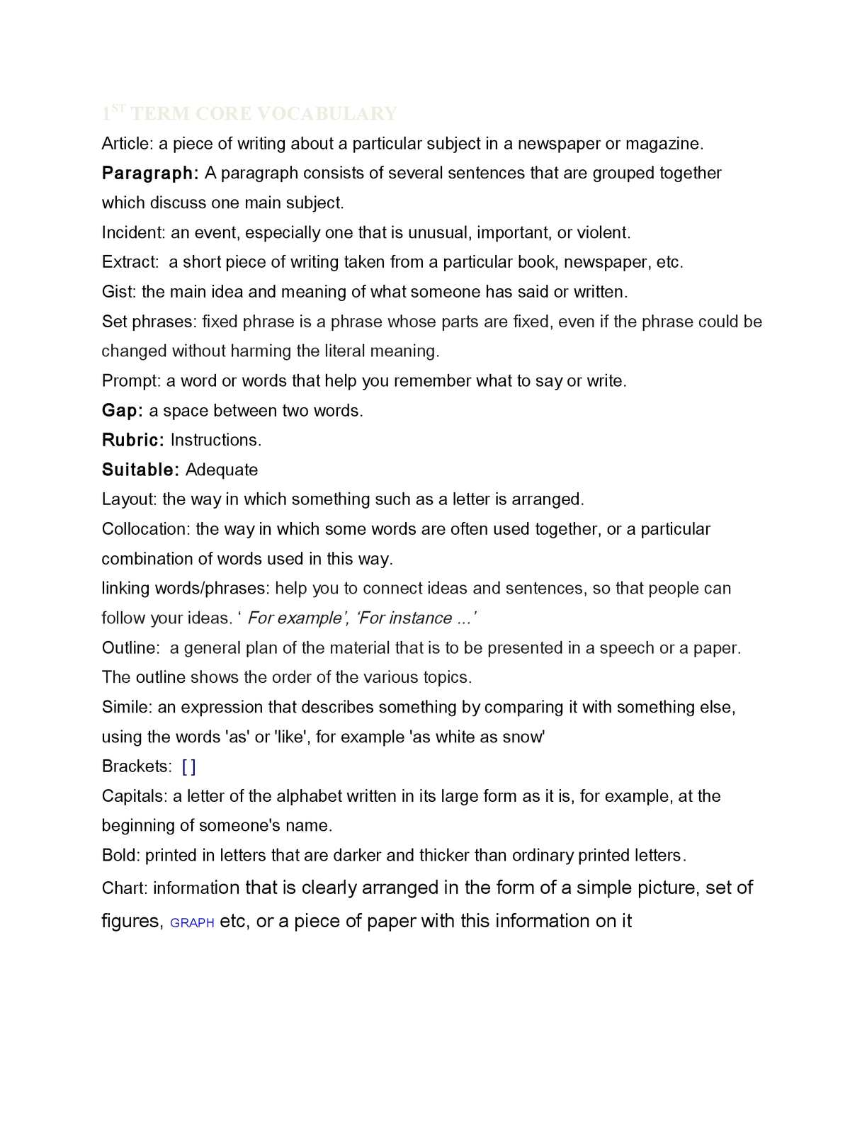 incident paragraph example