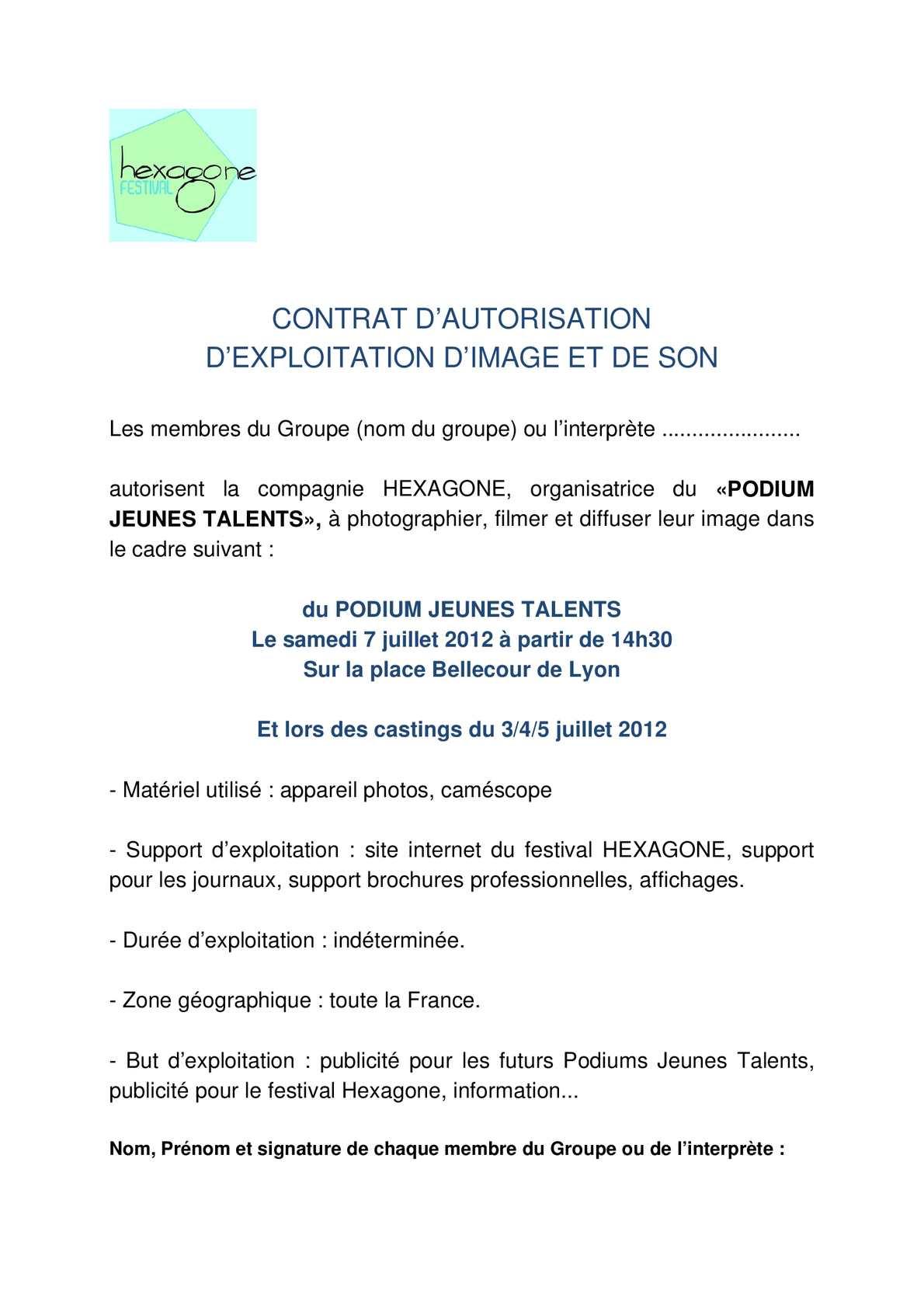 Calaméo - Autorisation droit à l'image et droit du son Lyon