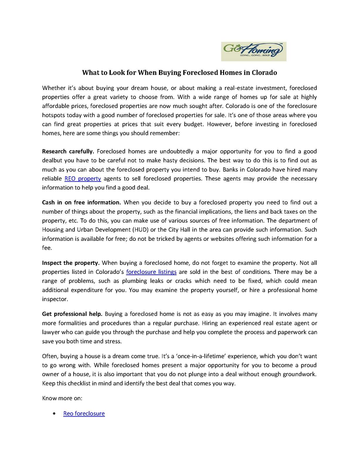Calaméo - What to Look for When Buying Foreclosed Homes in Clorado