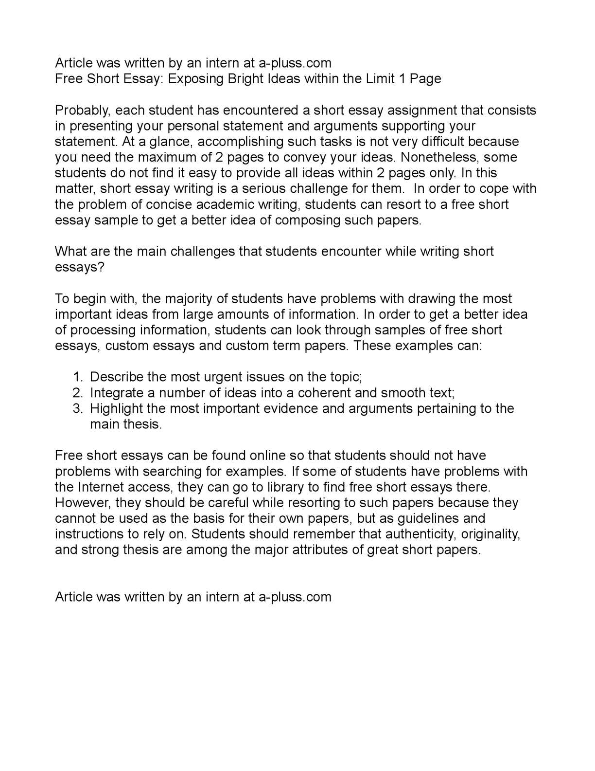 calam eacute o short essay exposing bright ideas in the limit calameacuteo short essay exposing bright ideas in the limit 1 page