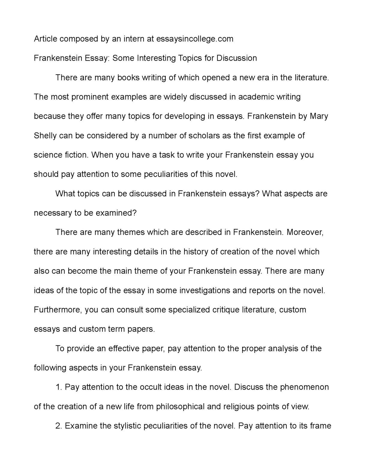 essay topics frankenstein essay topics frankenstein essay topics calamatildecopyo frankenstein essay some interesting topics for discussion