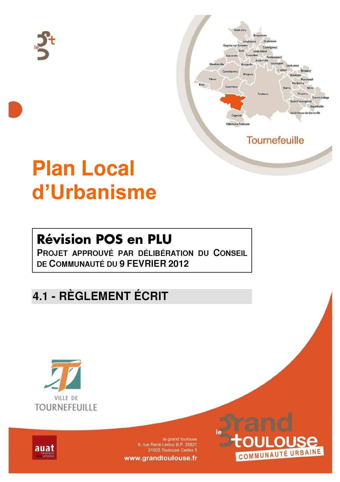 Calam o plu r glement crit for Agence urbanisme toulouse