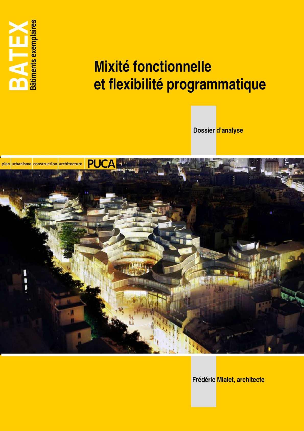BATEX - Mixité fonctionnelle et flexibilité programmatique