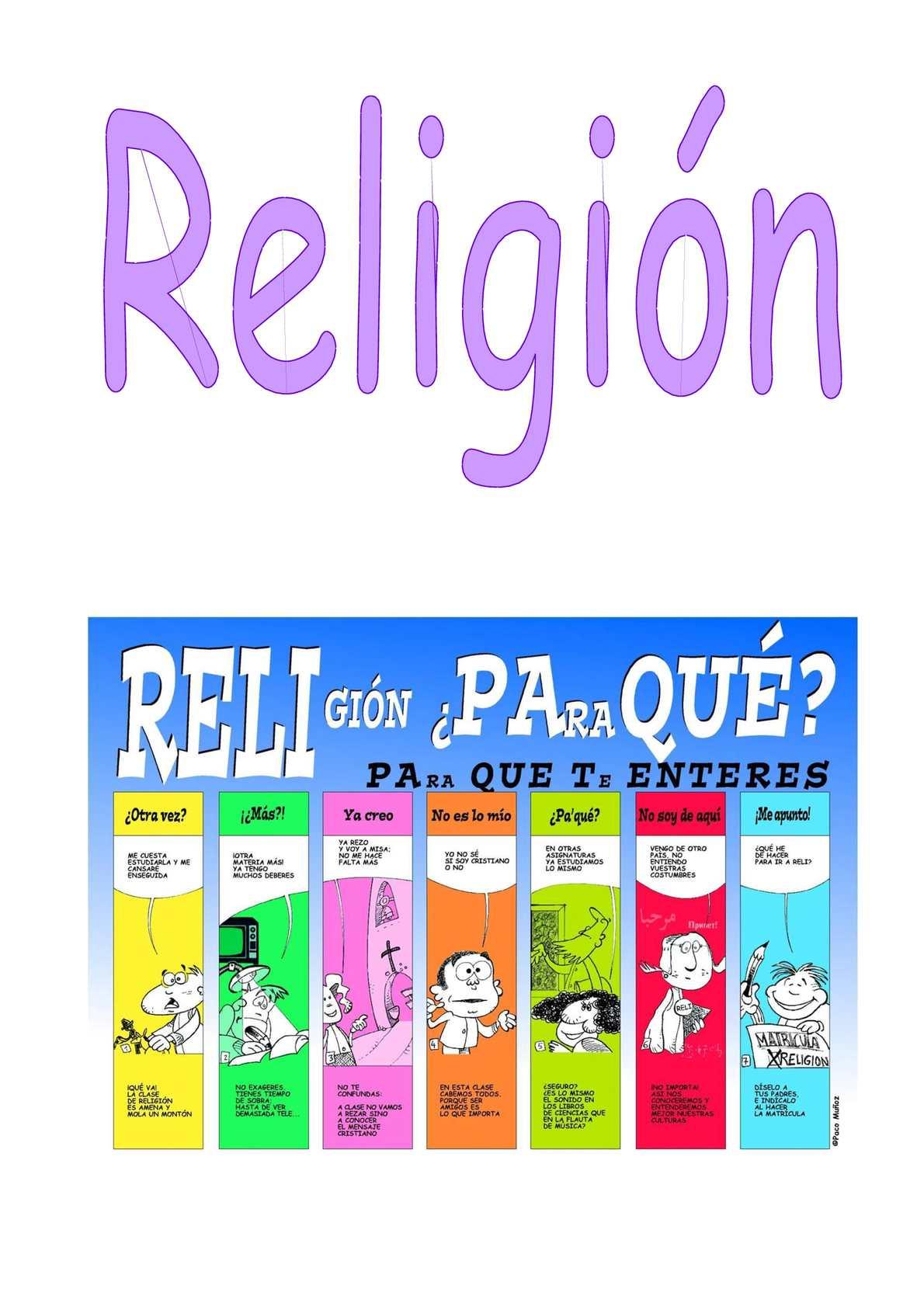 Propuestas de actividades para la clase de Religión