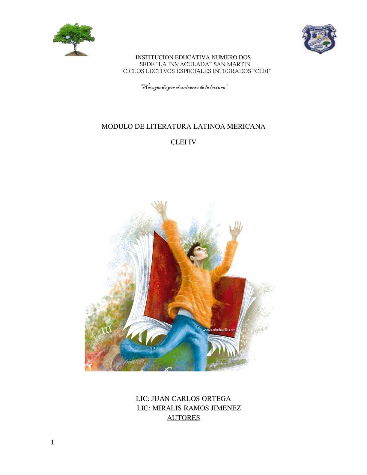 MODULO DE LITERATURA CLEI IV  EDUCACION PARA ADULTOS