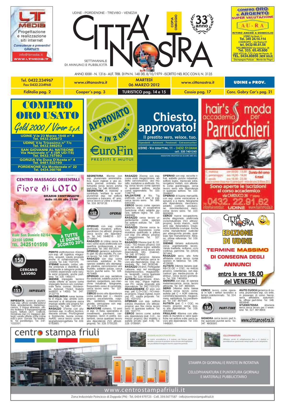 Calaméo Citt Nostra Udine Del 06 03 2012 N 1316
