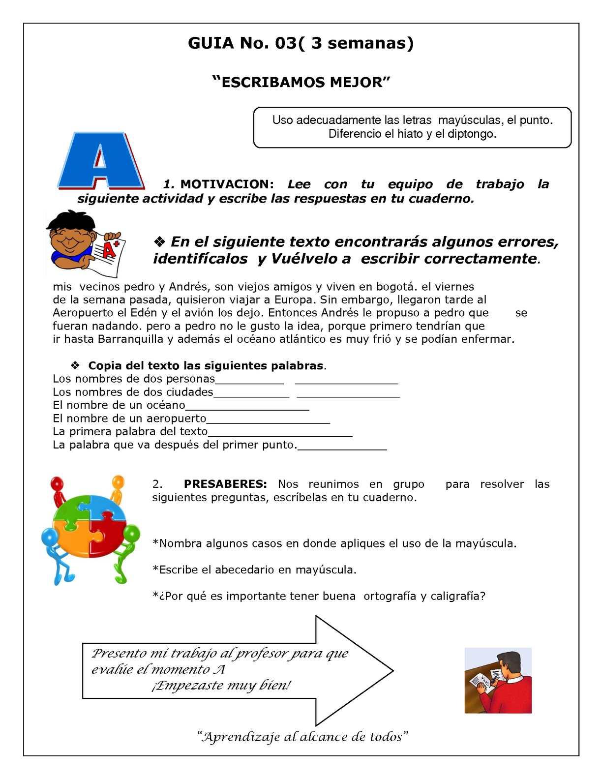Calaméo - Guía Castellano 6° No. 3 primer periodo