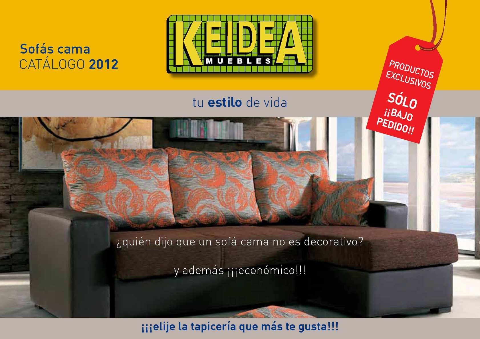 Calam o sof s camas colecci n 2012 keidea muebles for Keidea catalogo