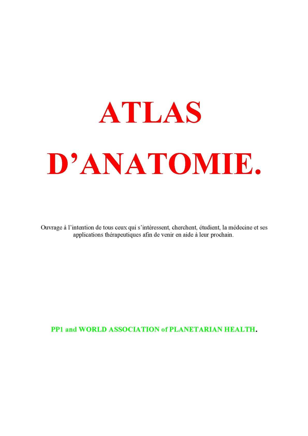 Médecine Anatomie,Planches et Léxique Cours 2
