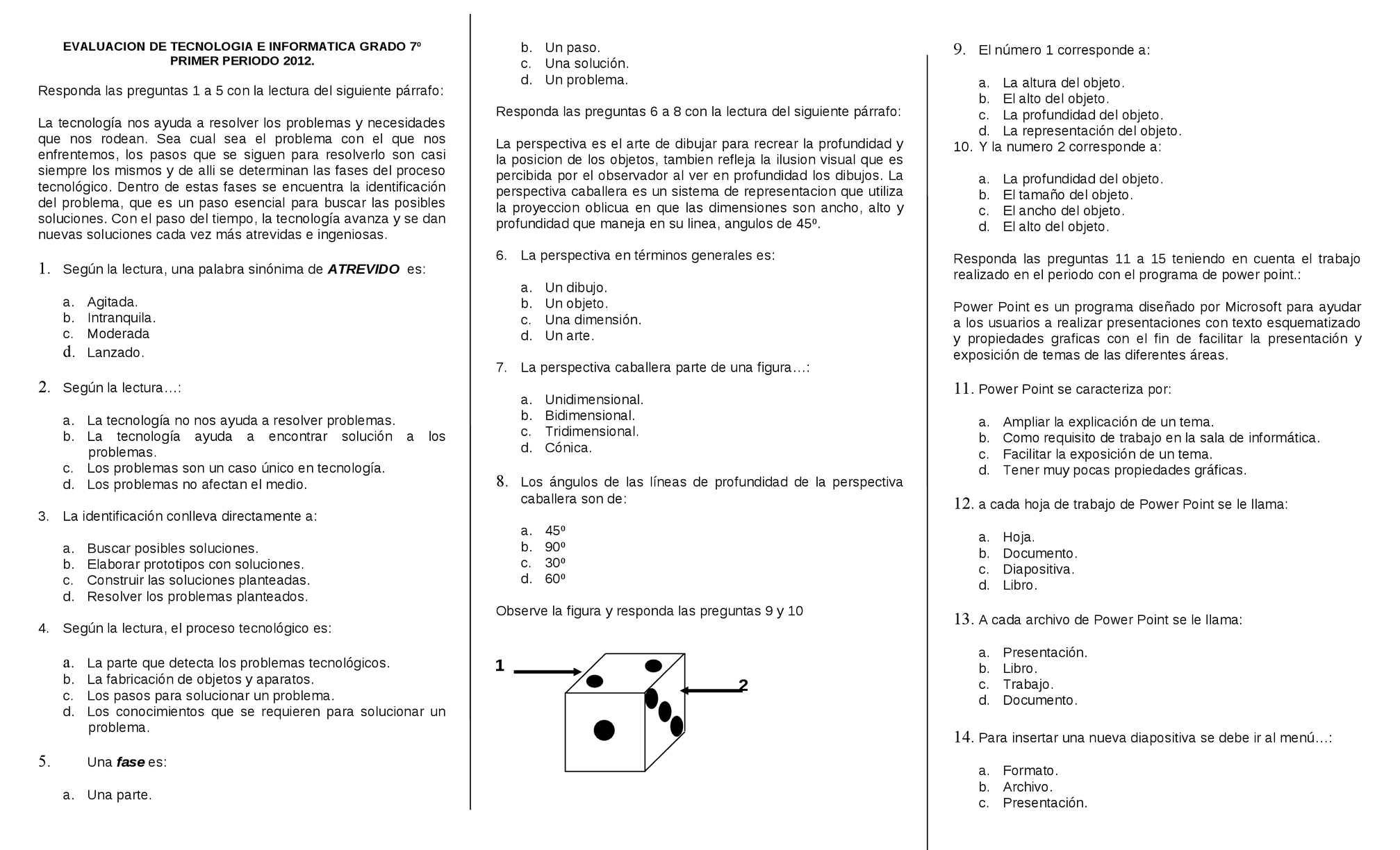 Calaméo - EVALUACIÓN GRADO 7