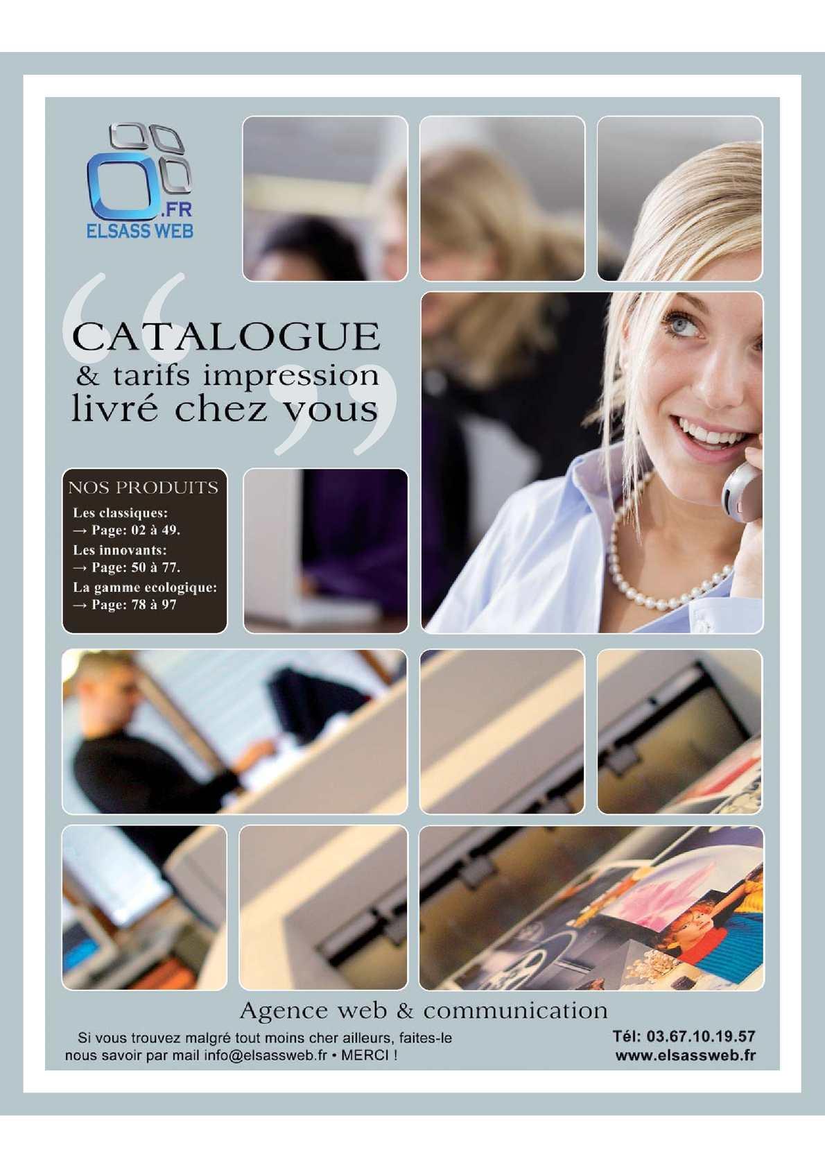Elsass Web catalogue & tarifs impression - Agence web & communication