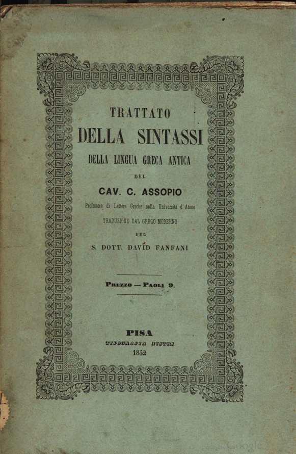 Calaméo - Trattato della sintassi della lingua greca antica