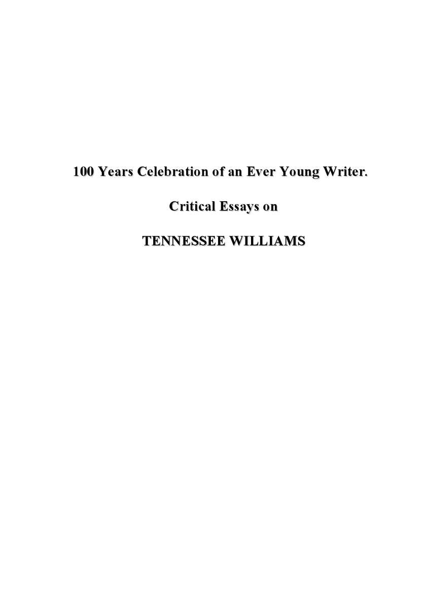 calam eacute o tennessee williams critical essays
