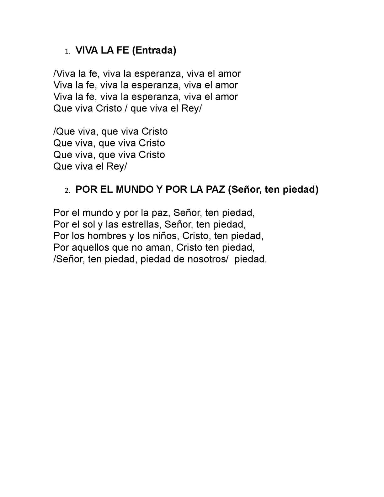 Canto de amor lyrics