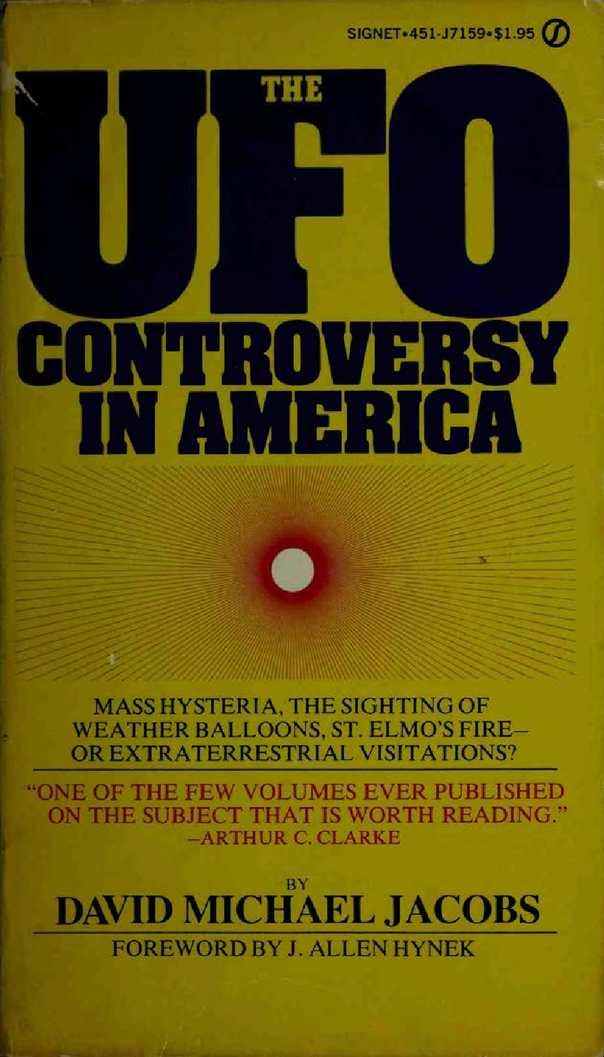 Calamo David Jacobs The Ufo Controversy In America