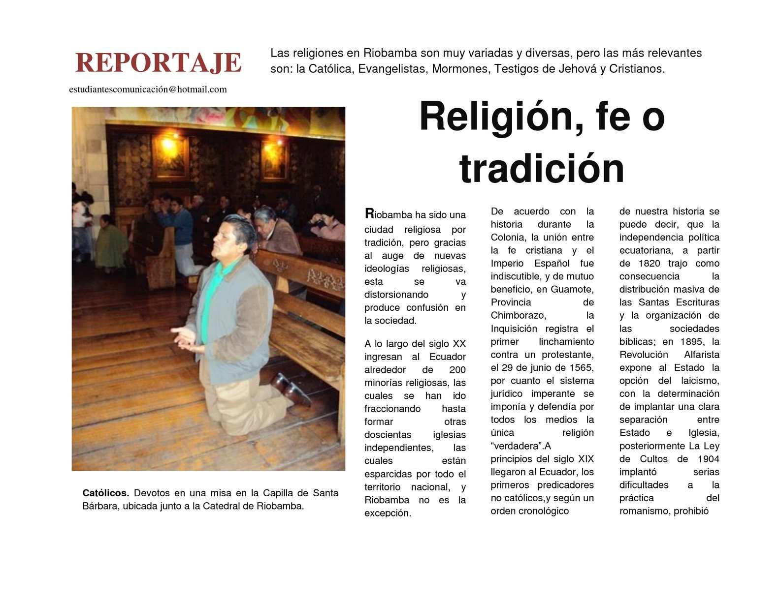 Reportaje-Religión
