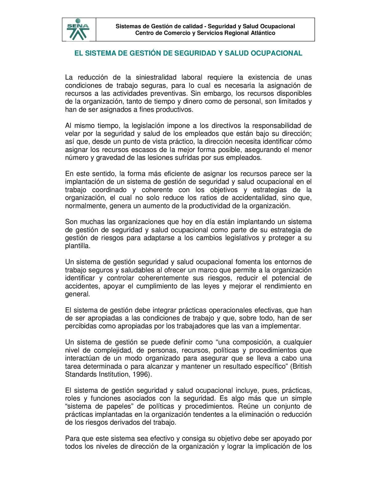 Calaméo - Introducción a los sistemas de gestión seguridad y salud ...