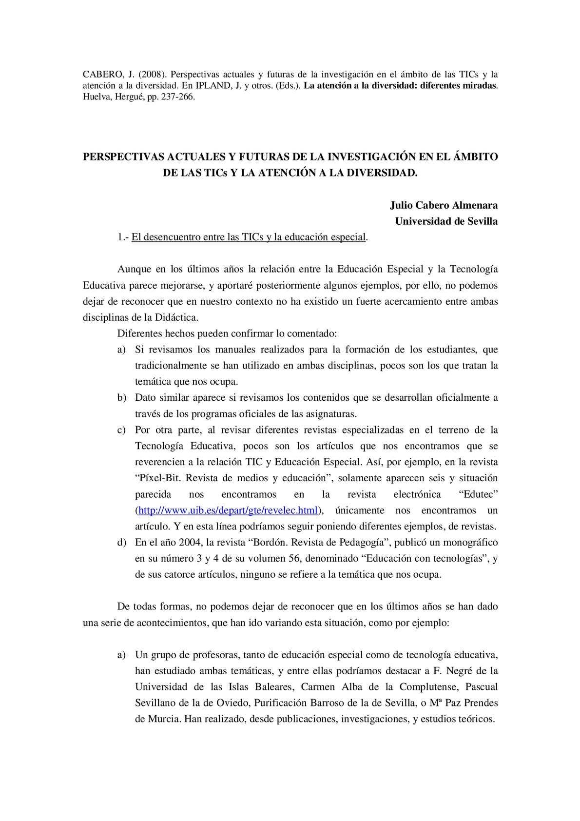 Calaméo - Las Tics y la diversidad