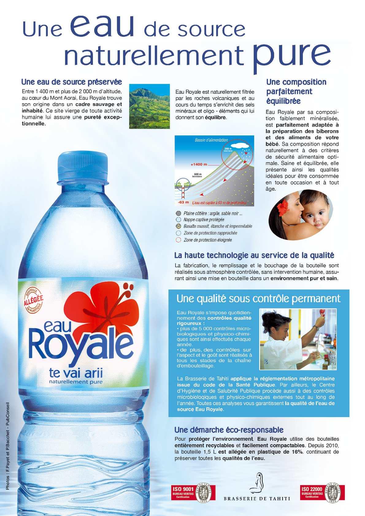 Publireportage Eau Royale