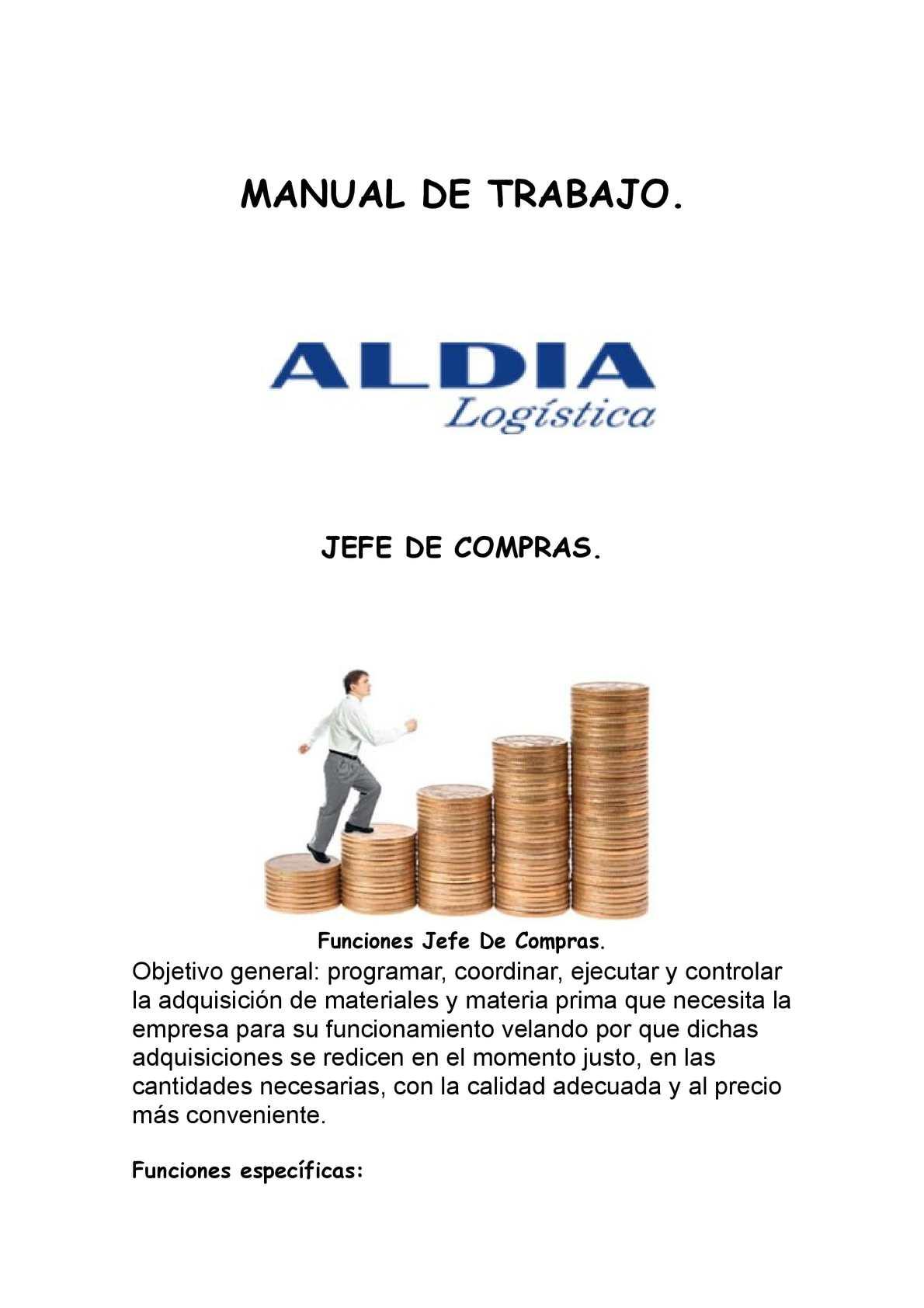Manual de Funciones Jefe de Compras