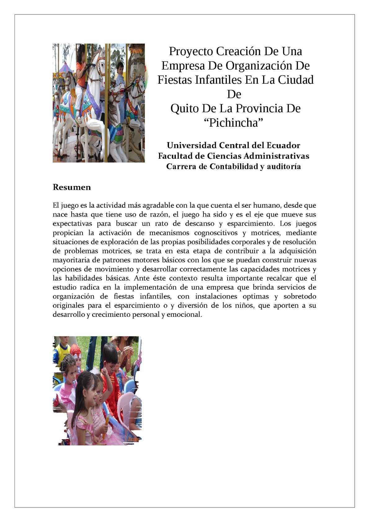 Calaméo - Proyecto Creación de una Empresa Organizadora de Fiestas ...