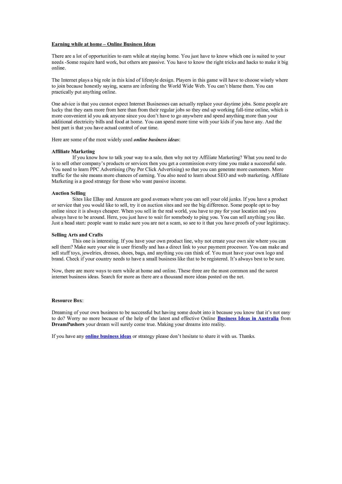 Home Internet Business Ideas. internet business ideas for new biz ...