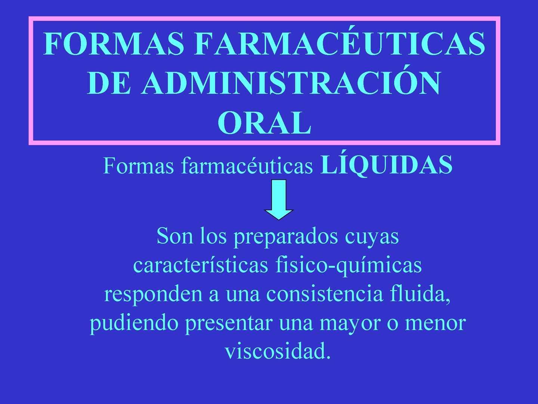 Formas farmaceuticas liquidas