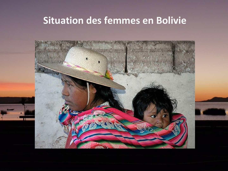 calam o situation des femmes en bolivie. Black Bedroom Furniture Sets. Home Design Ideas