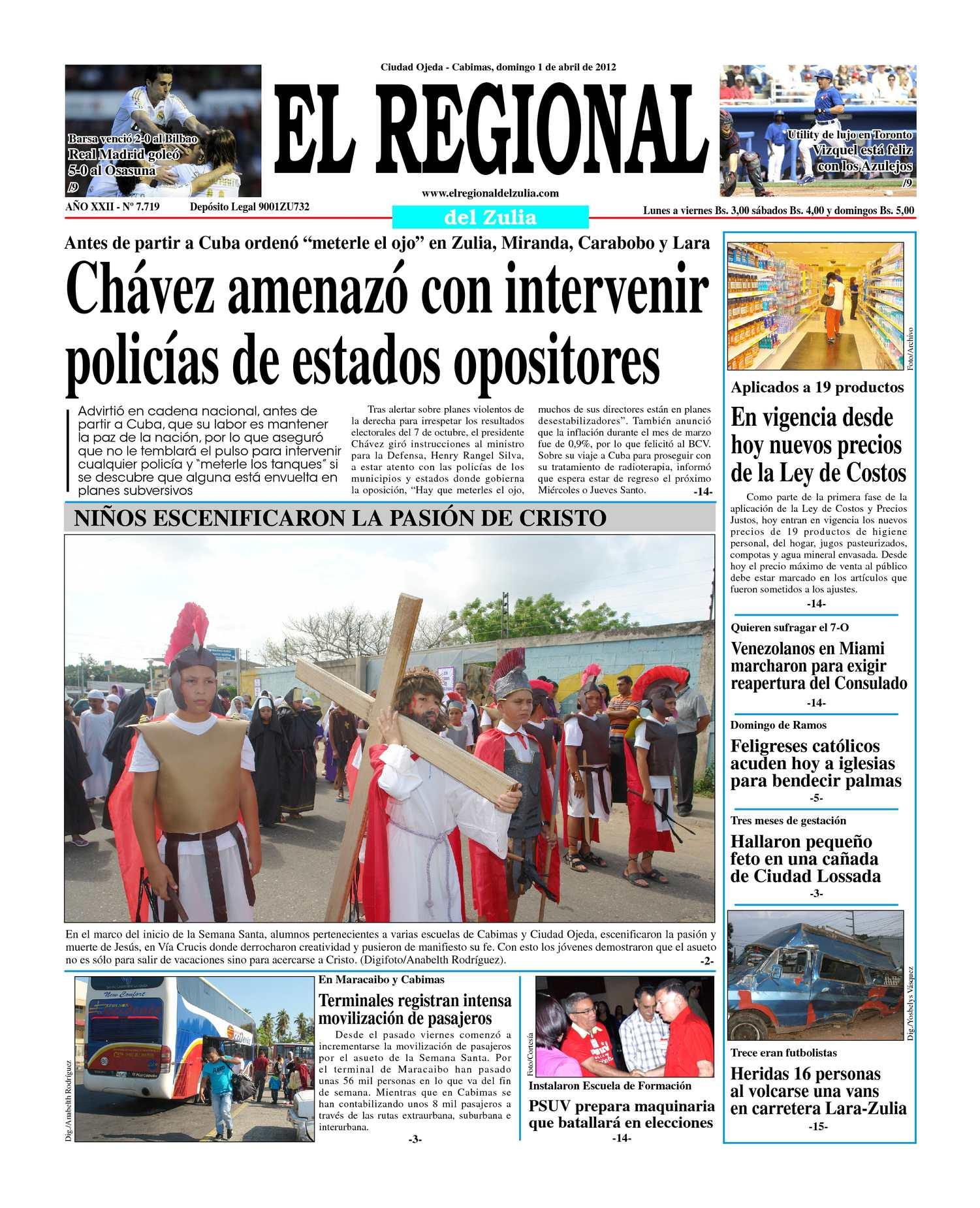 Calaméo - El Regional del Zulia 01-04-2012