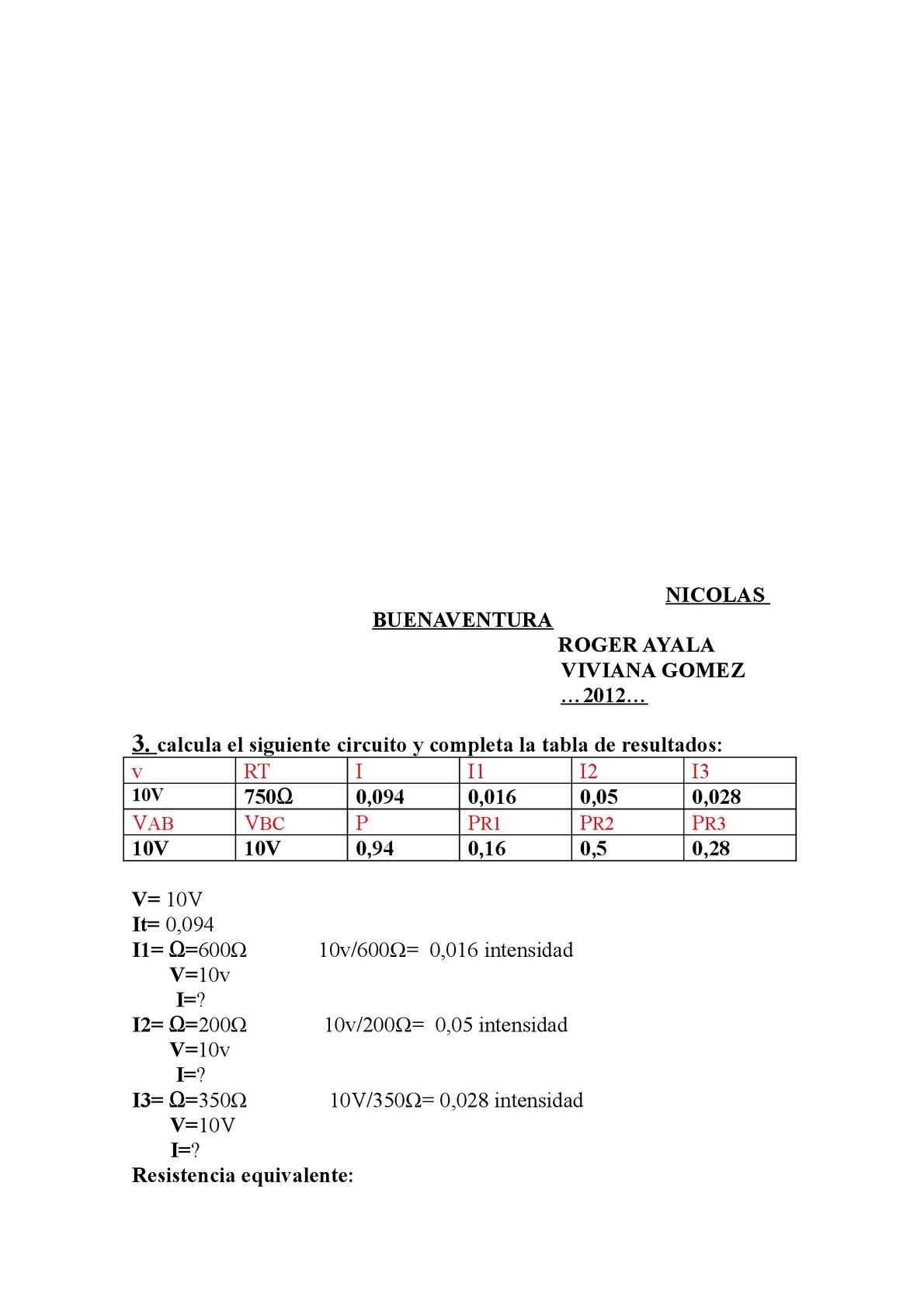 Circuito Seri E Paralelo : Ejercicios de circuito serie paralelo y mixto calameo downloader