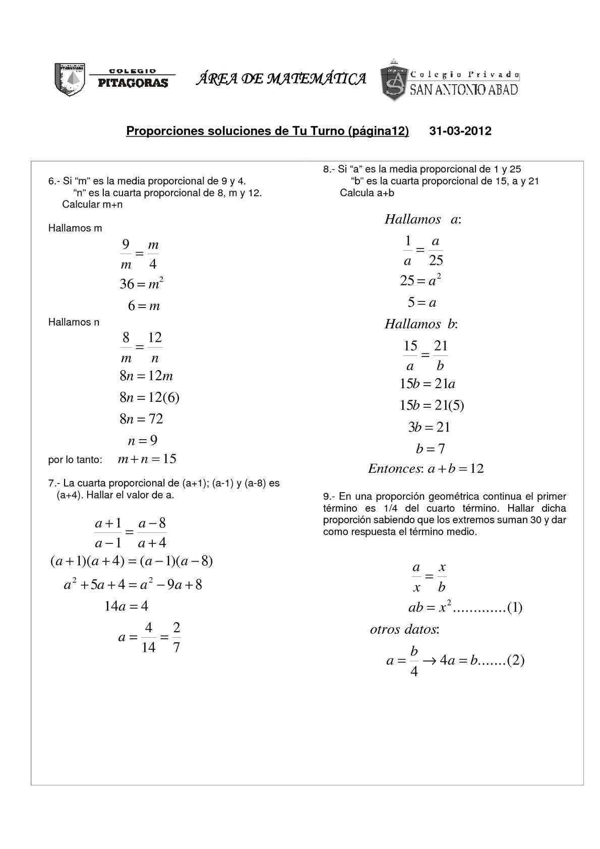Calaméo - proporciones soluciones TuTurno1