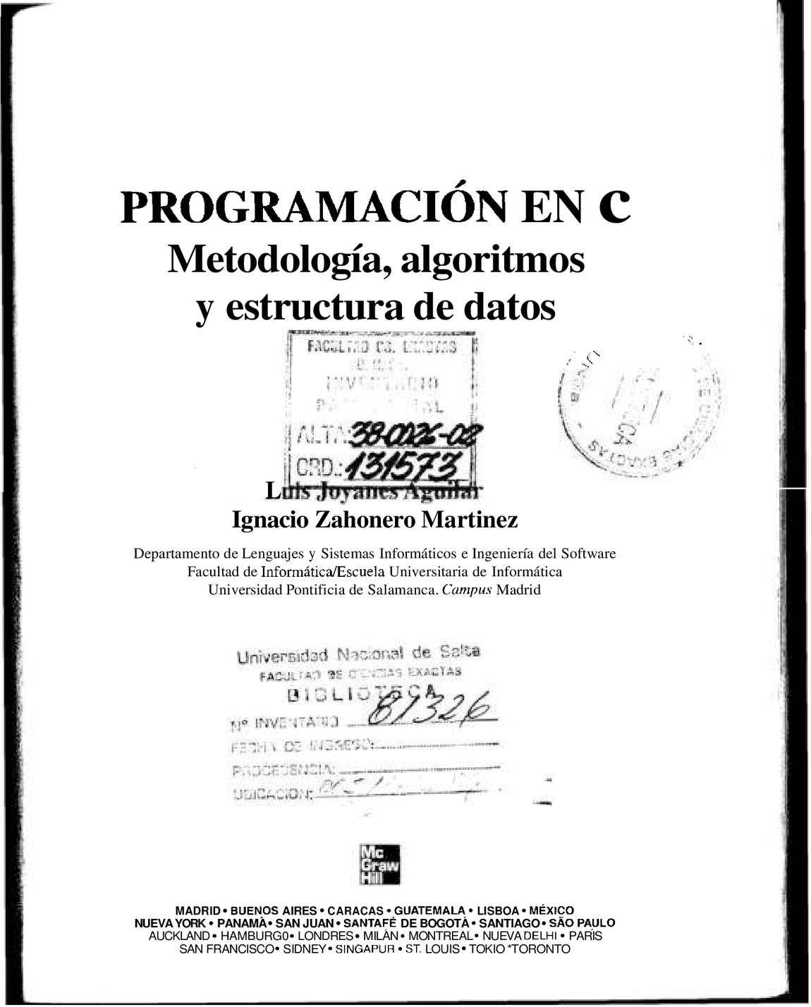 Programacion en C - Joyanes (student)