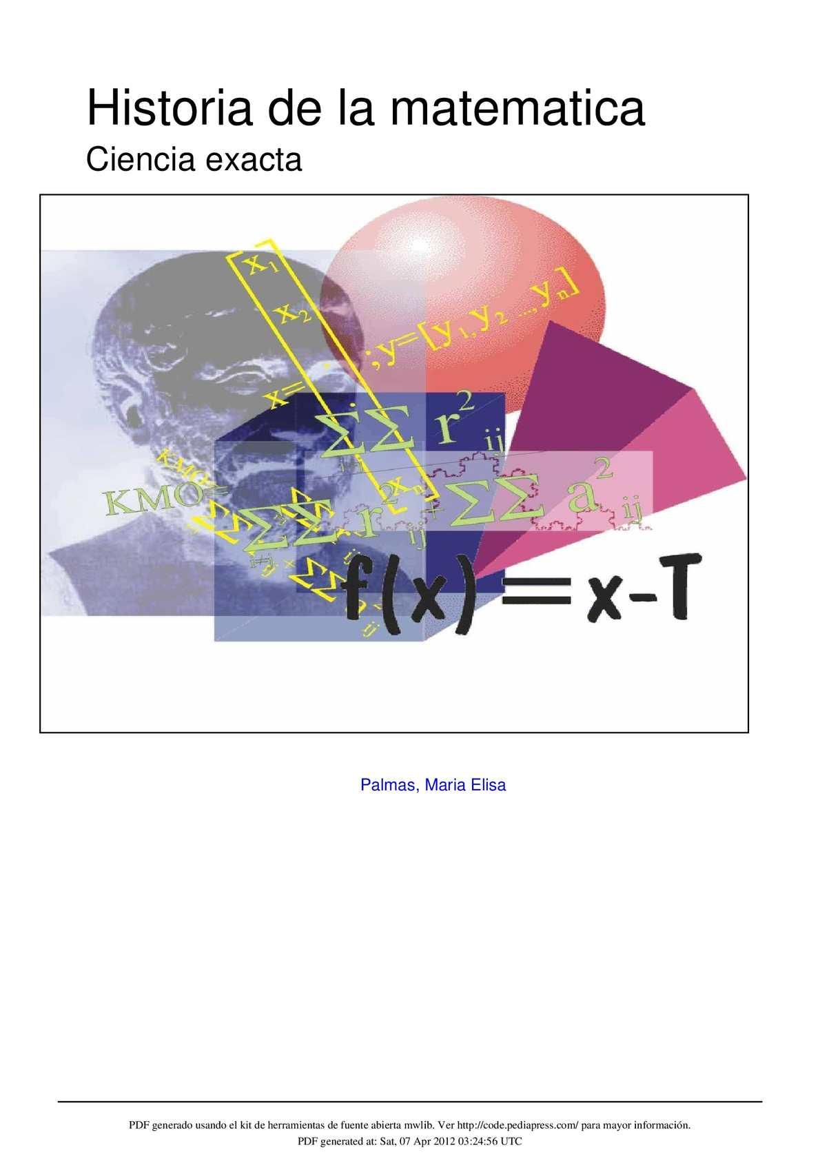 Calaméo - historia de la matemática.
