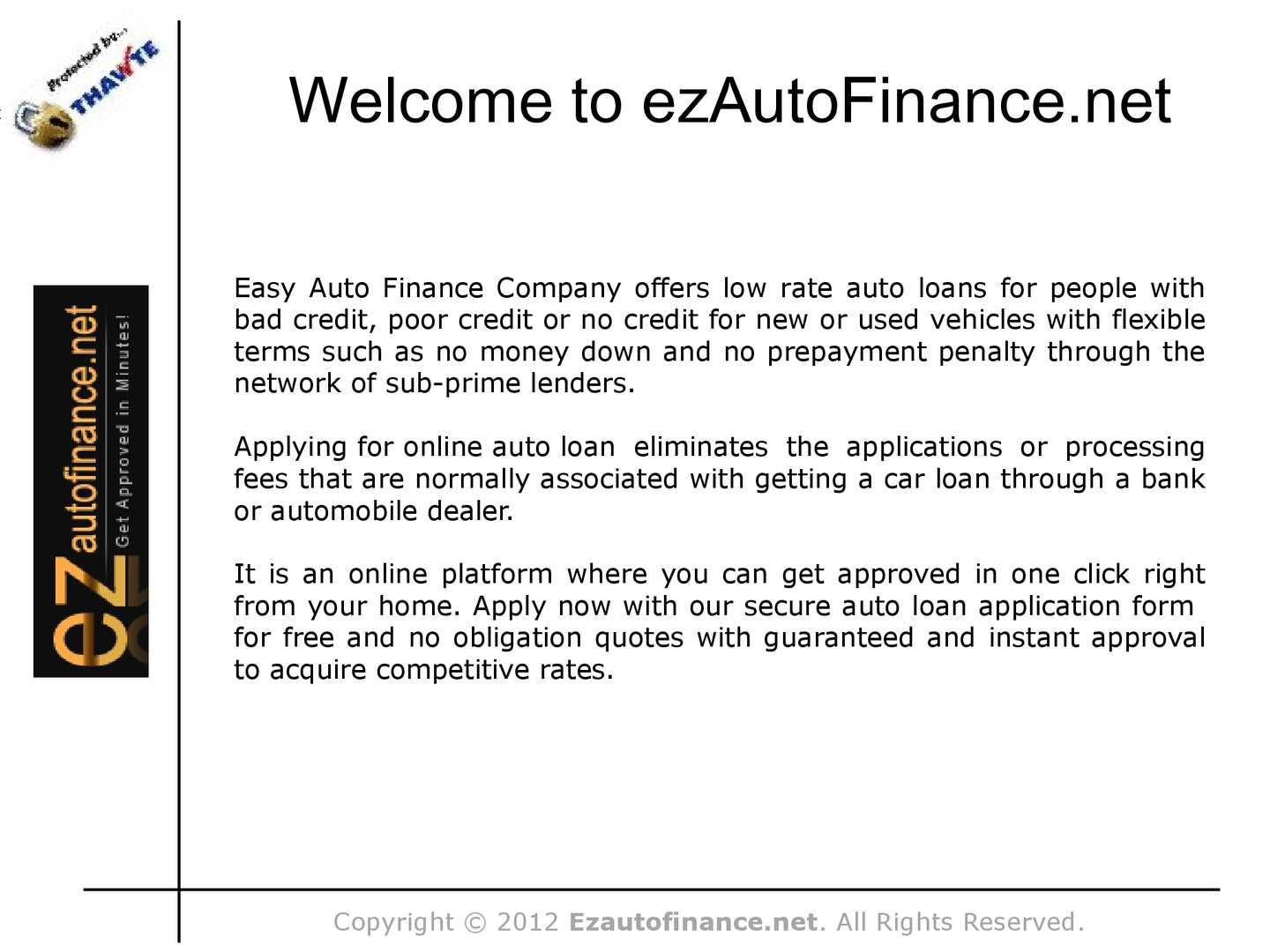Calameo Easy Auto Loan Approval With No Down Payment