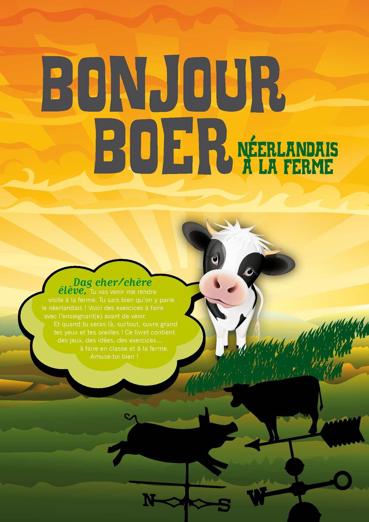 Livret pédagogique Bonjour Boer