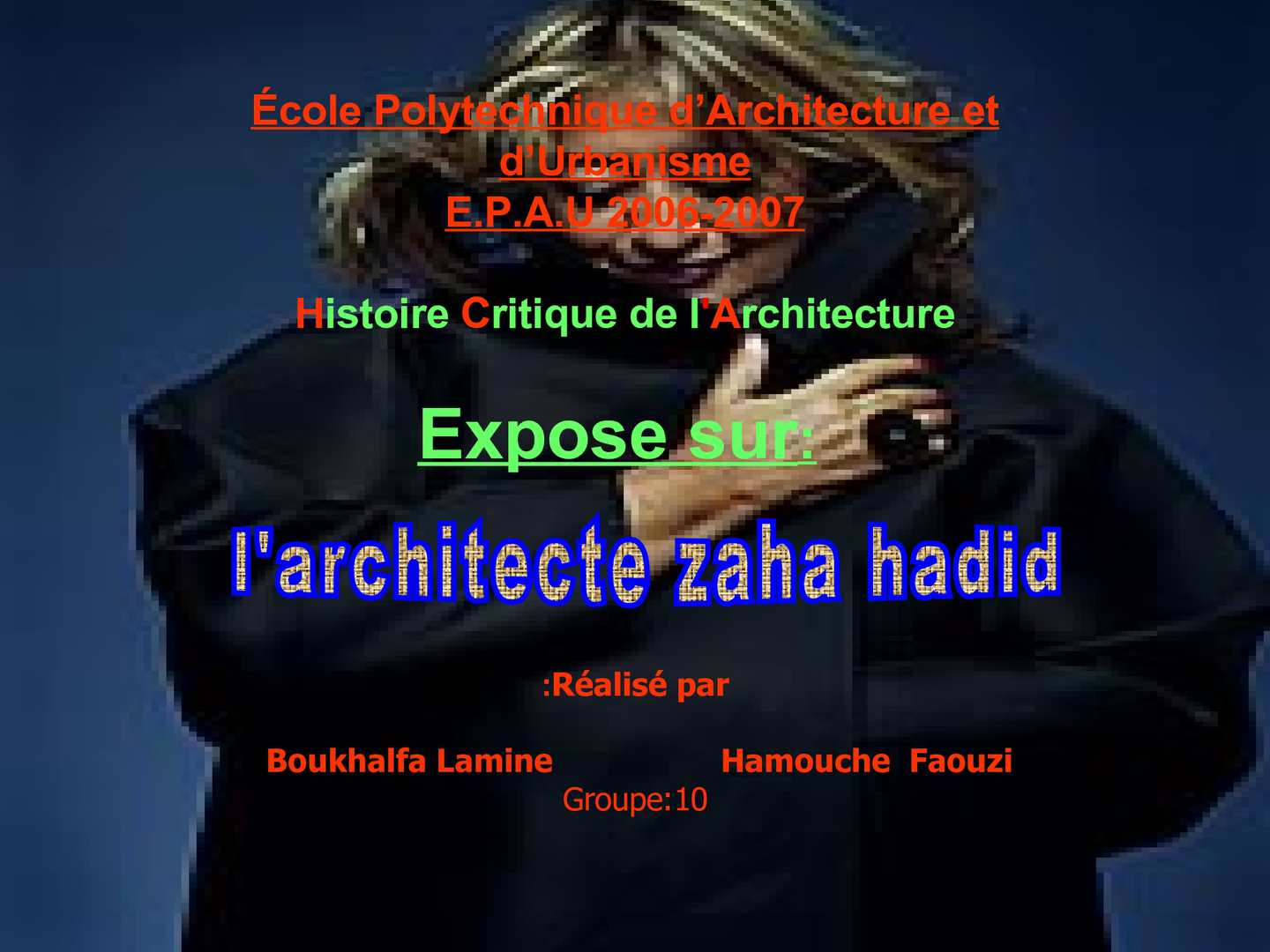 Calam o zaha hadid for Modernisme architecture definition