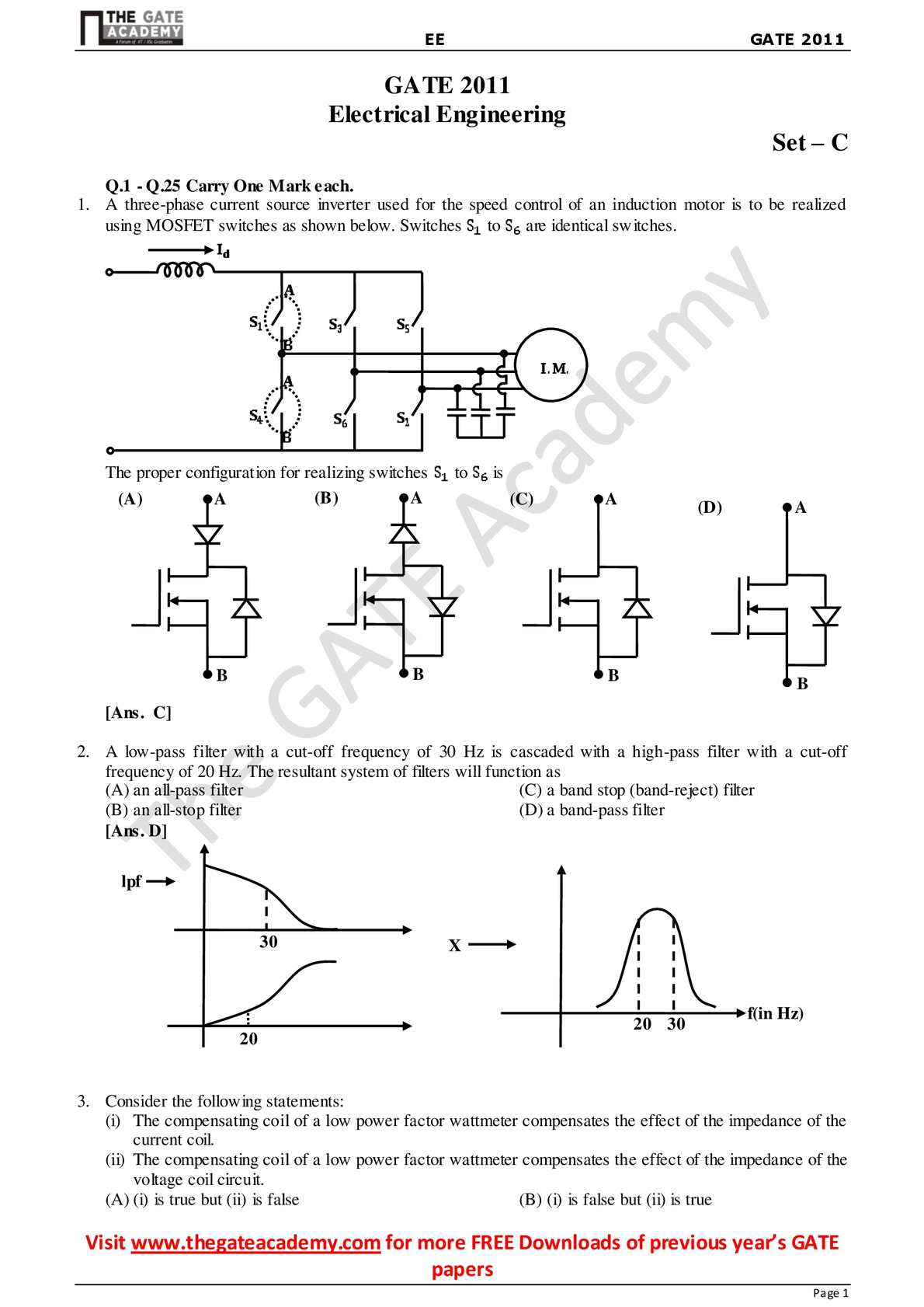 Calamo Ee Gate 2011 Explanations High Pass Filter Circuit Diagram