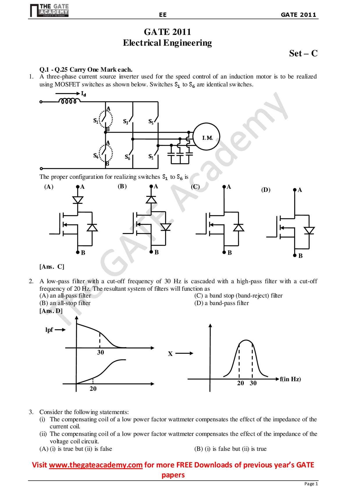 Calamo Ee Gate 2011 Explanations Pass Filter Circuit Diagram For High