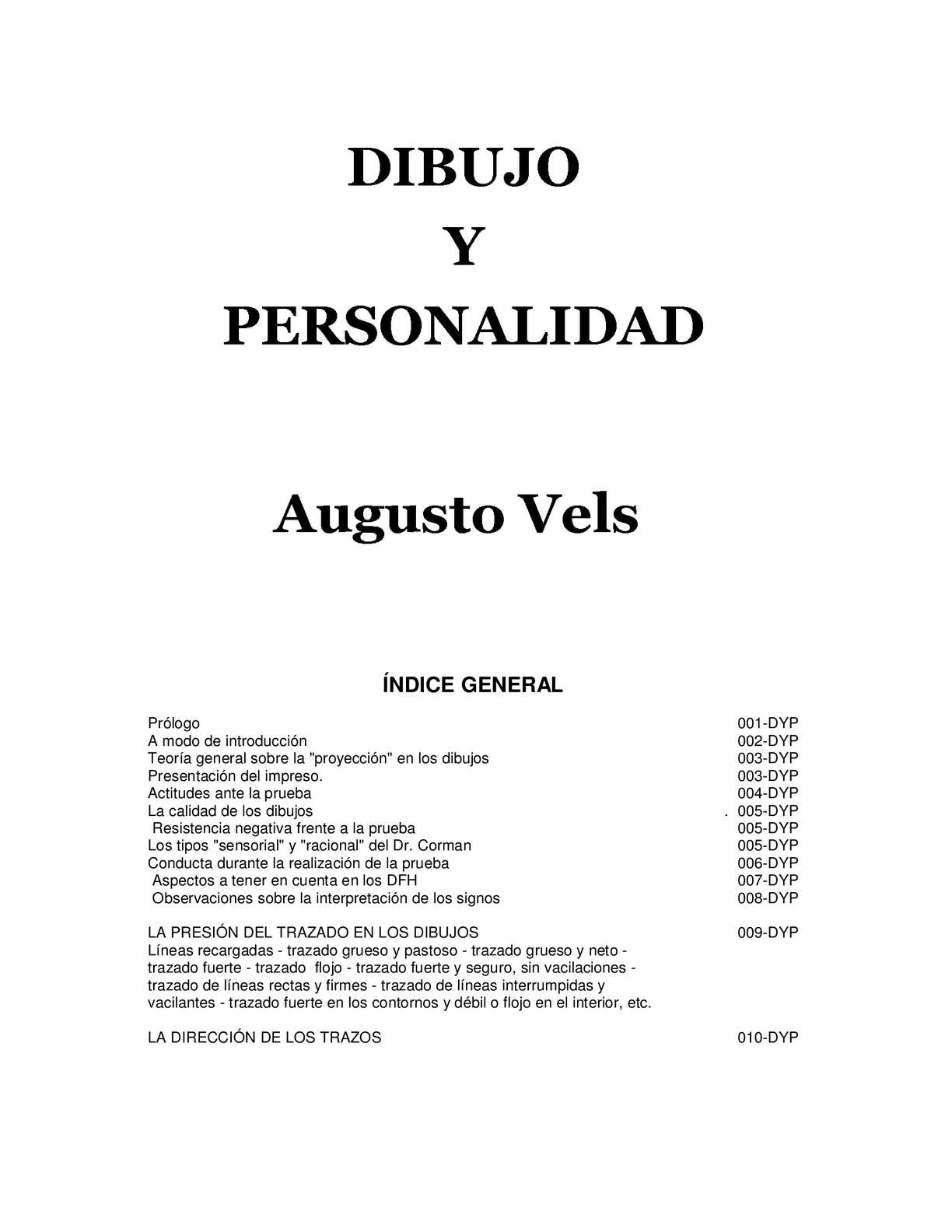 Calamo  DIBUJO Y PERSONALIDAD