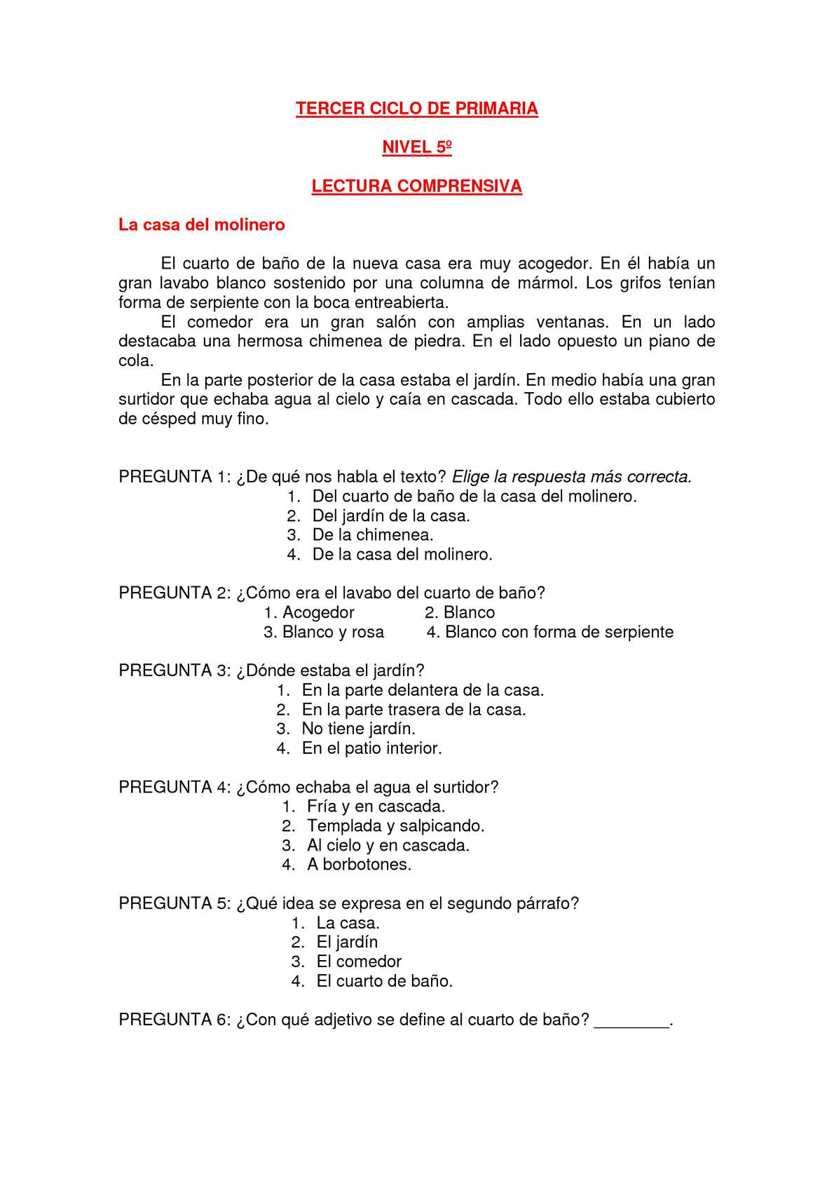 Calaméo - LECTURAS COMPRENSIVAS TERCER CICLO PRIMARIA.