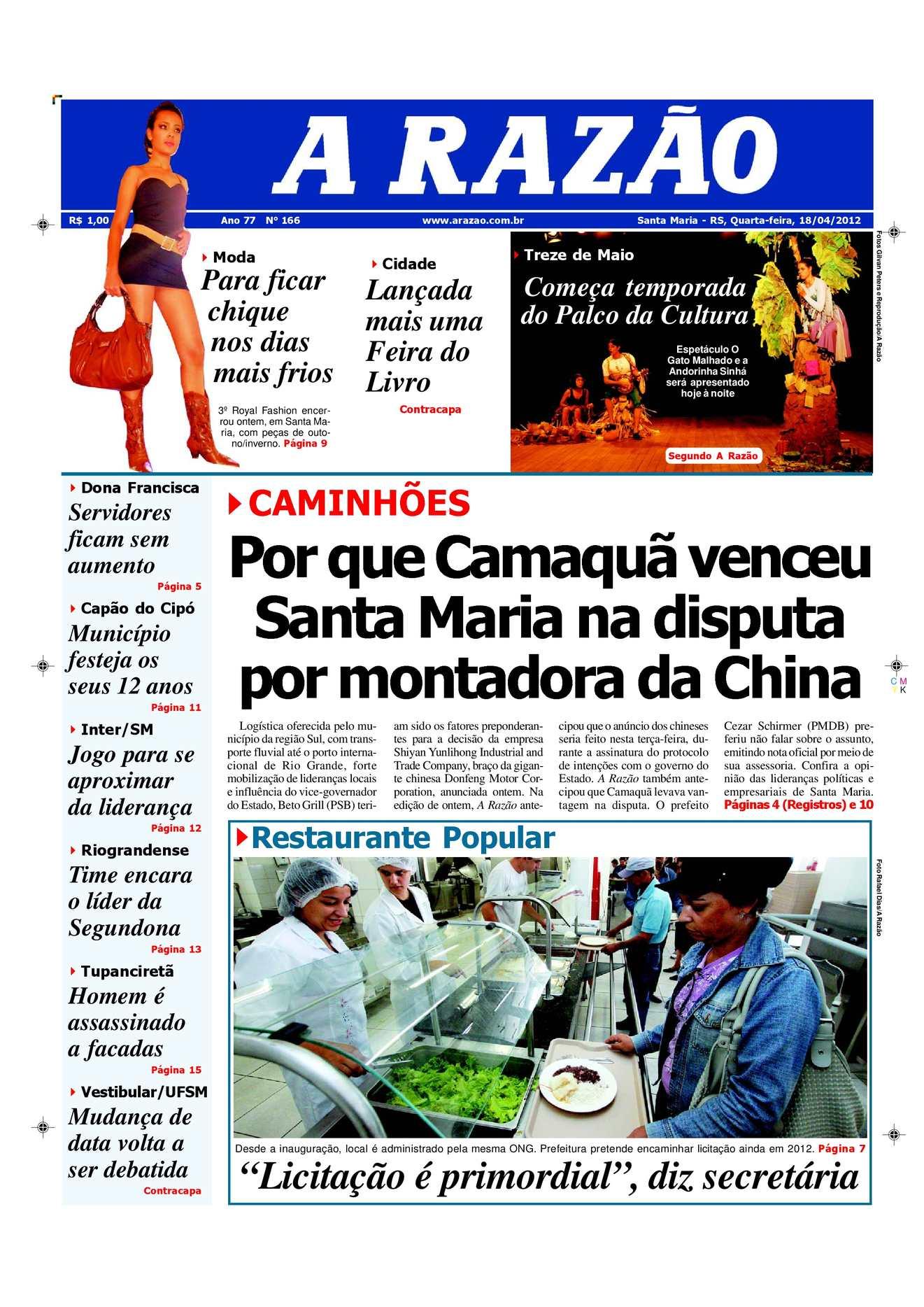 9c8ddf09eb3 Calaméo - Jornal A Razão Santa Maria - 18042012