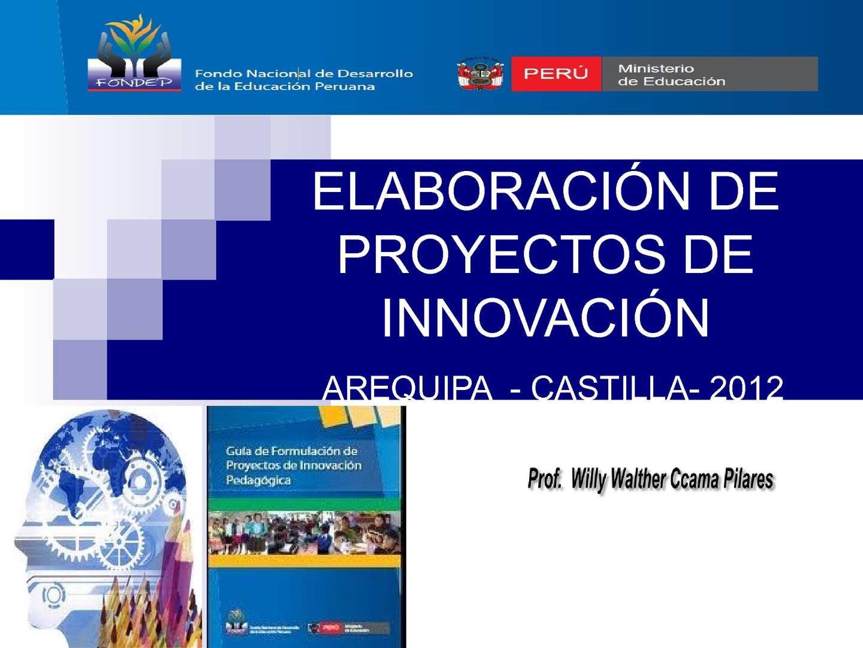 Calam o proyecto de innovaci n pedagogica elaboraci n for Ministerio de innovacion