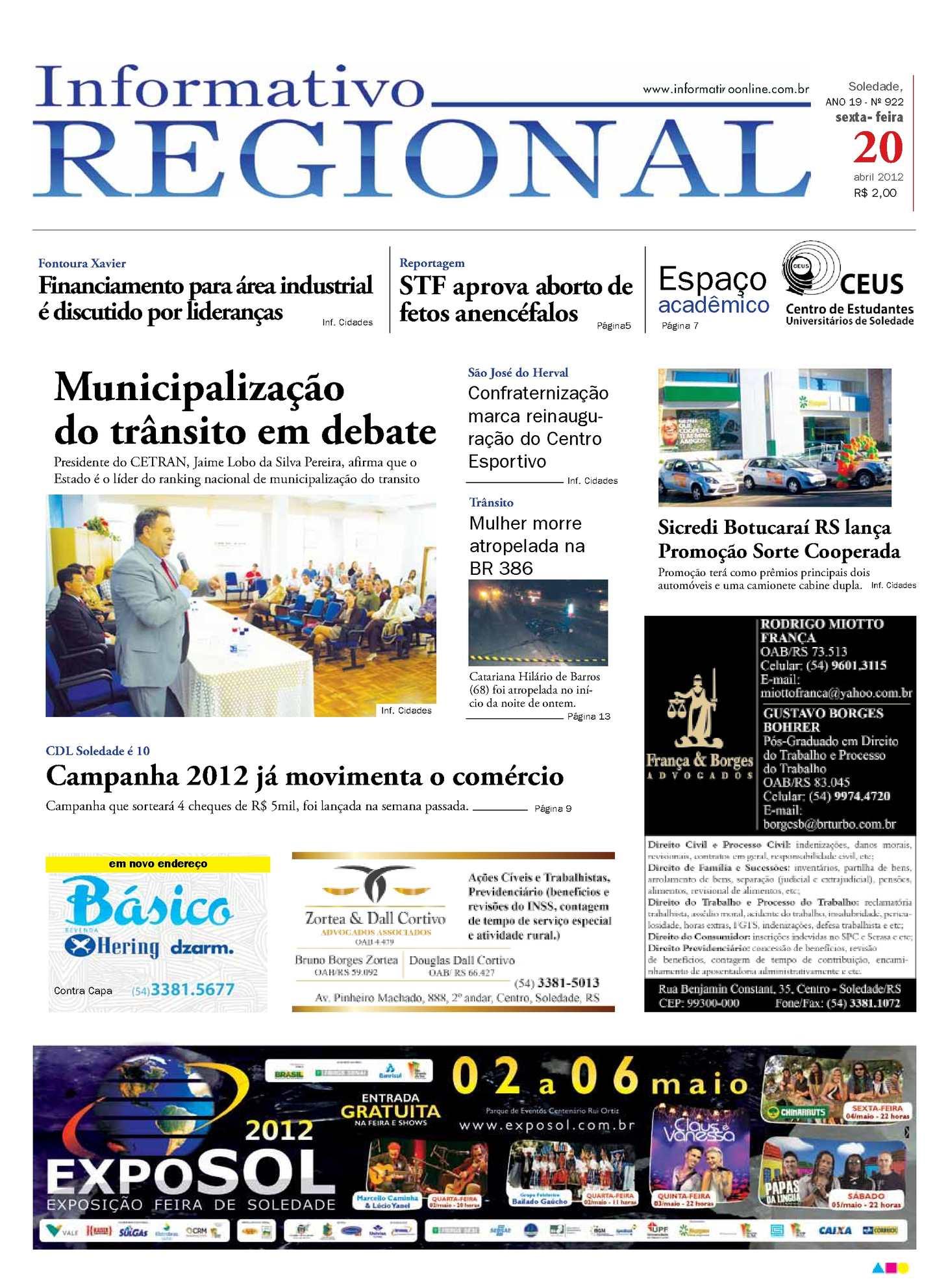 Calaméo - Informativo Regional 922 5566ccba7a