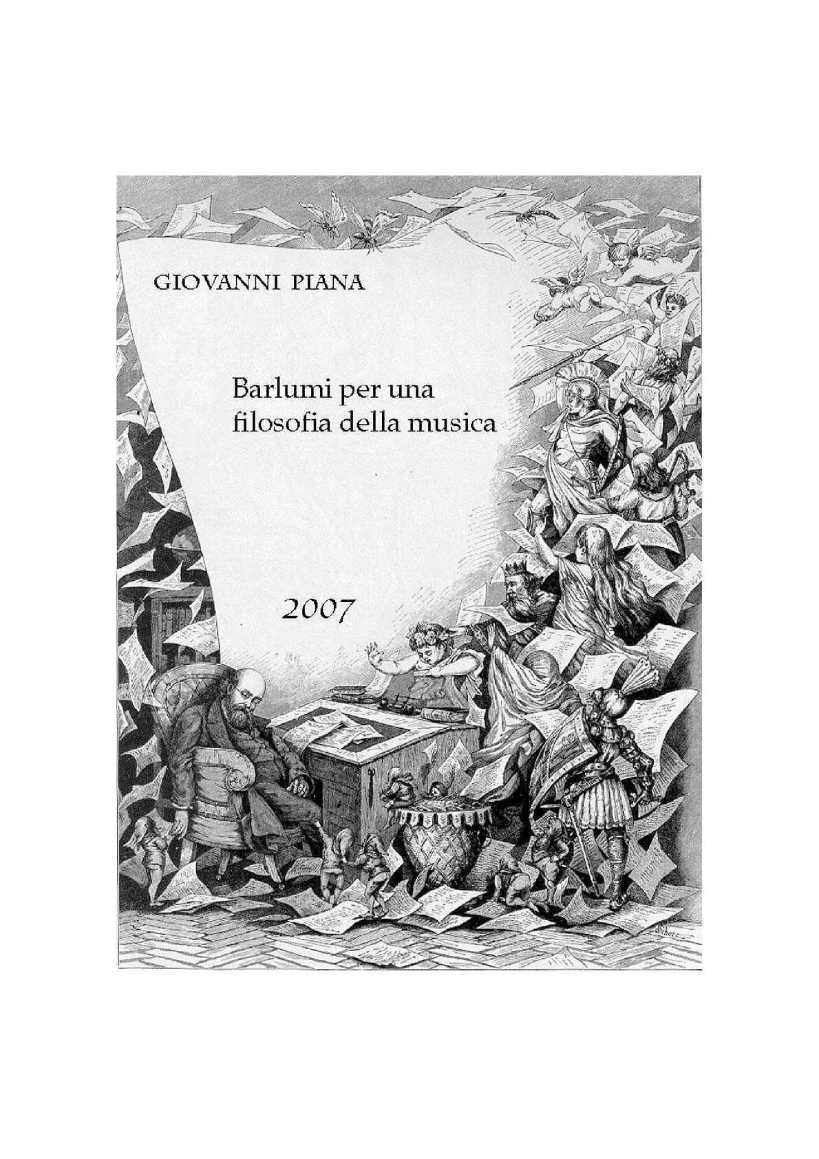 Barlumi per una Filosofia della Musica_parte1 - di Giovanni Piana