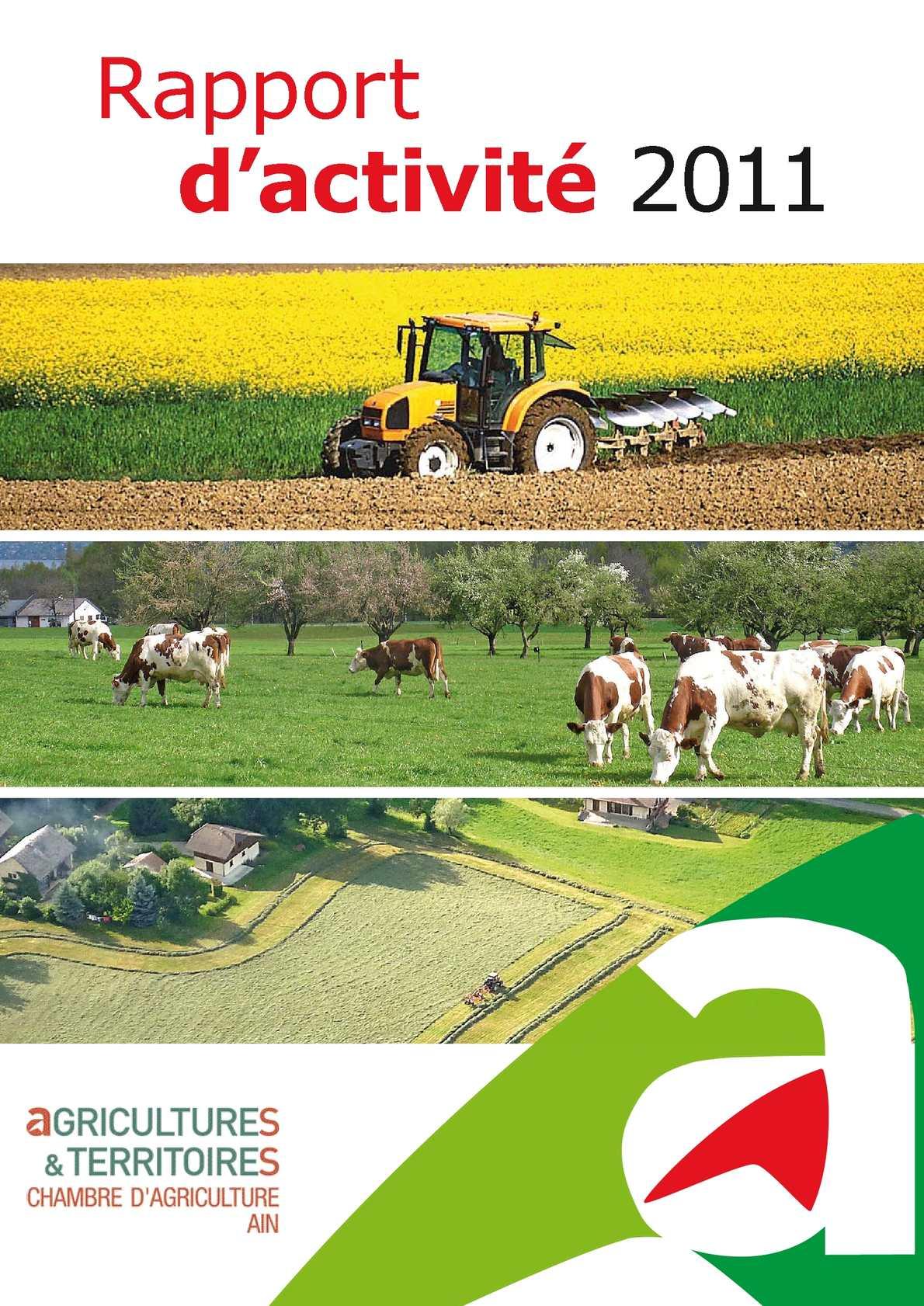 Calam o rapport d 39 activit chambre d 39 agriculture 2011 for Recrutement chambre d agriculture