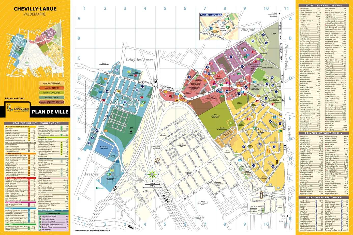 Calam o plan de la ville de chevilly larue for Chevilly larue piscine