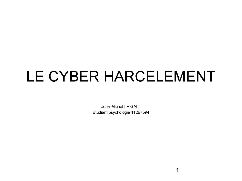 cyber harcèlement définition