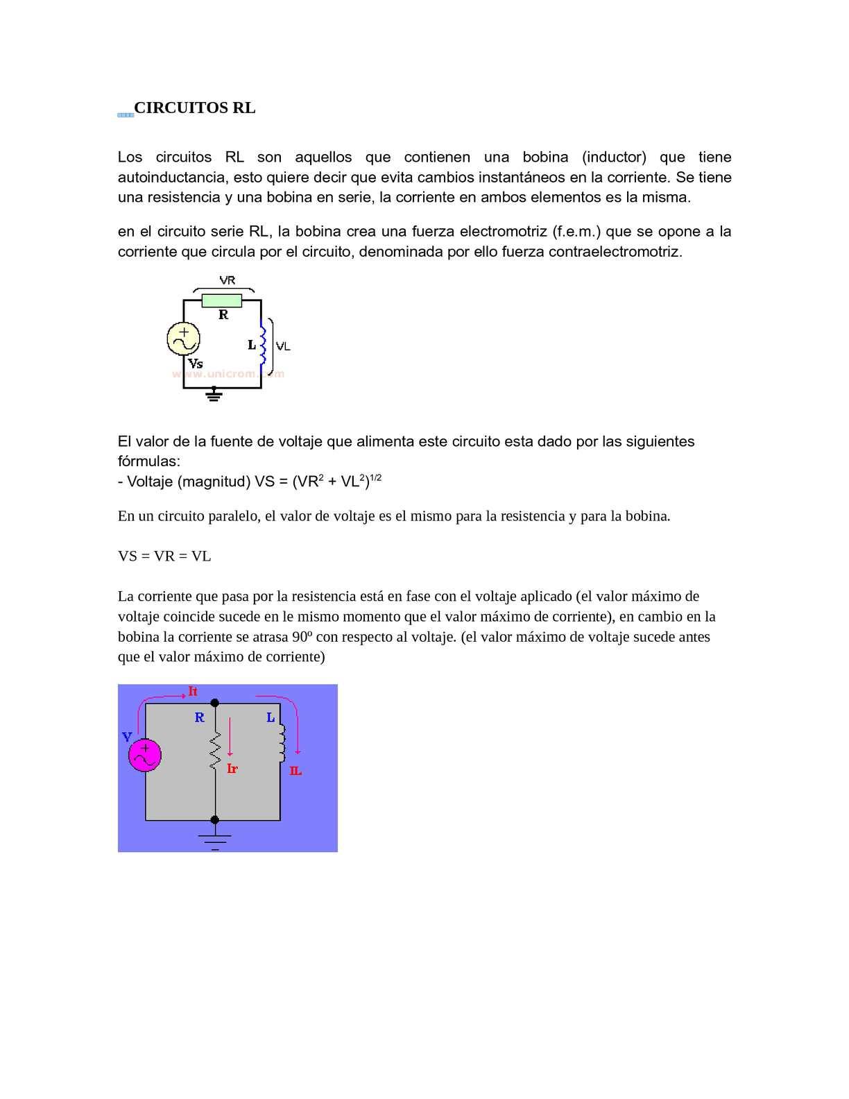 Circuito Rl : Calaméo circuitos rl y rc